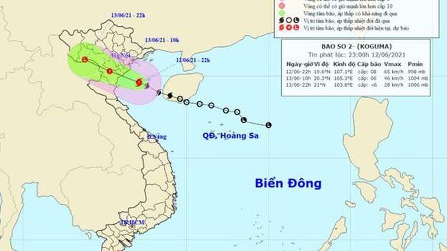 Đêm nay bão ảnh hưởng trực tiếp đất liền, Bắc bộ và Bắc Trung bộ mưa lớn