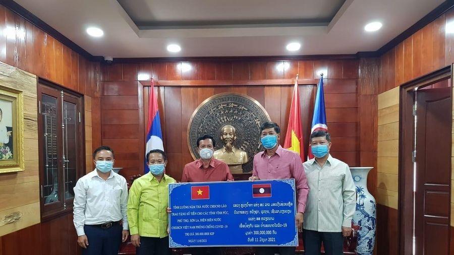 Các tỉnh của Lào hỗ trợ địa phương Việt Nam phòng chống dịch COVID-19