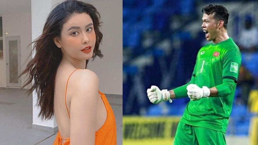 Phản ứng của thủ môn Bùi Tấn Trường khi được Trương Quỳnh Anh 'nói lời yêu'