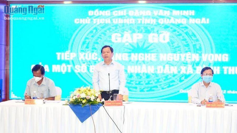 Tiếp xúc, đối thoại với người dân trong vùng Dự án Thép Hòa Phát Dung Quất