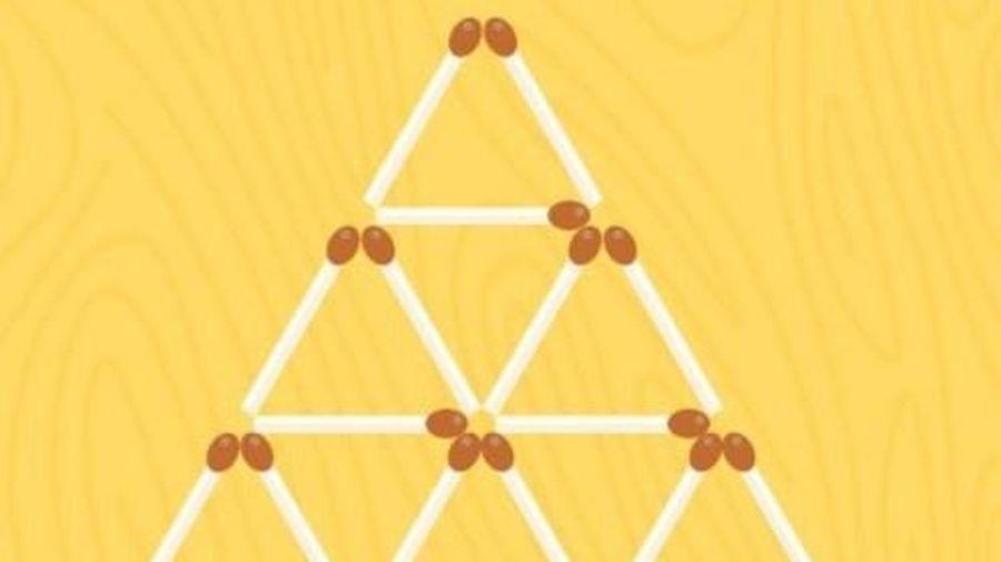 Câu đố bỏ 5 que diêm để tạo thành 5 tam giác bằng nhau