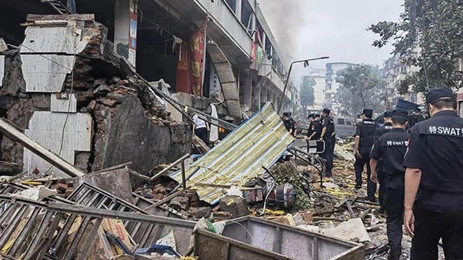 Kinh hoàng vụ nổ khí gas ở Trung Quốc khiến ít nhất 12 người tử vong