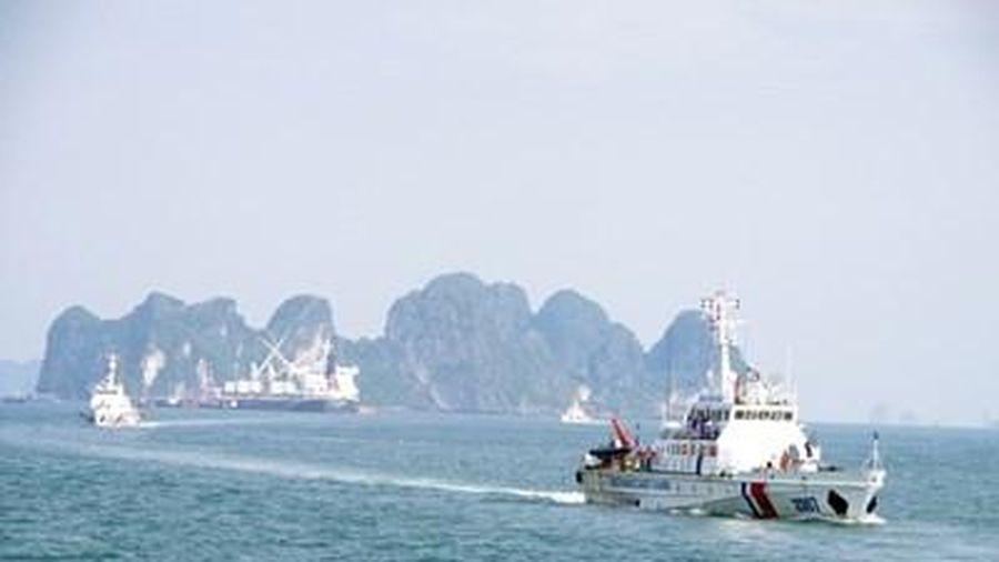 Vùng Cảnh sát biển 1 huấn luyện chiến thuật trên biển
