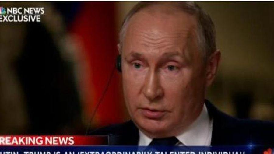 Lần đầu trả lời phỏng vấn báo Mỹ sau 3 năm, ông Putin so sánh ông Trump và ông Biden