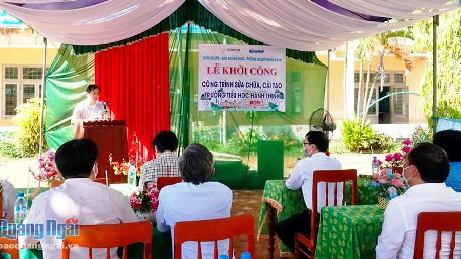 Khởi công Công trình sửa chữa, cải tạo Trường Tiểu học Hành Thịnh