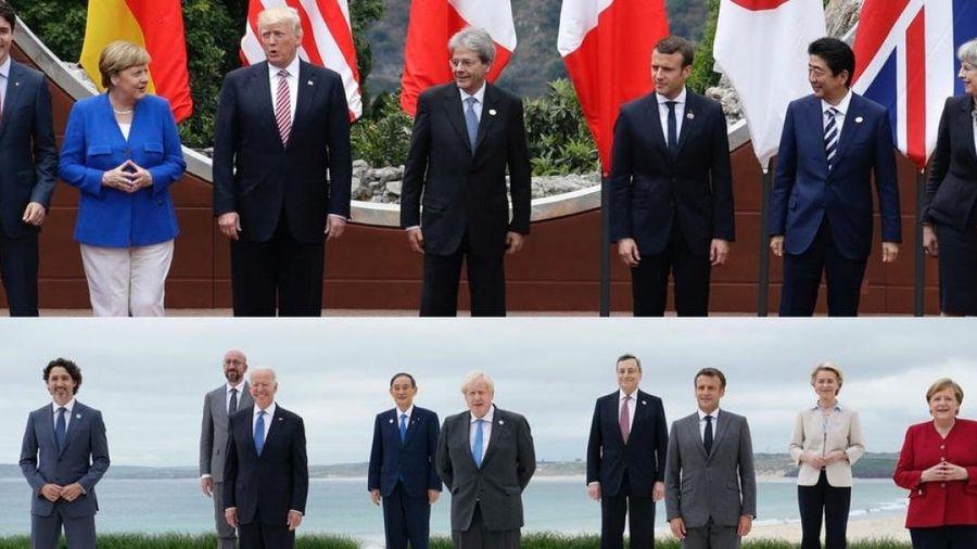 Đằng sau bức ảnh tập thể tiết lộ sự đối lập giữa Trump và Biden ở Thượng đỉnh G7