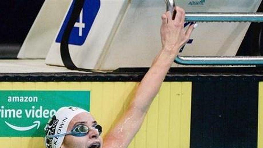 Kình ngư Australia McKeown phá kỷ lục thế giới 100 m bơi ngửa nữ