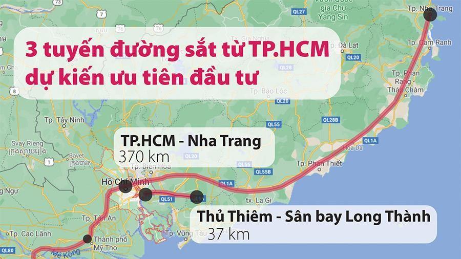 Ưu tiên làm 3 tuyến đường sắt từ TP.HCM
