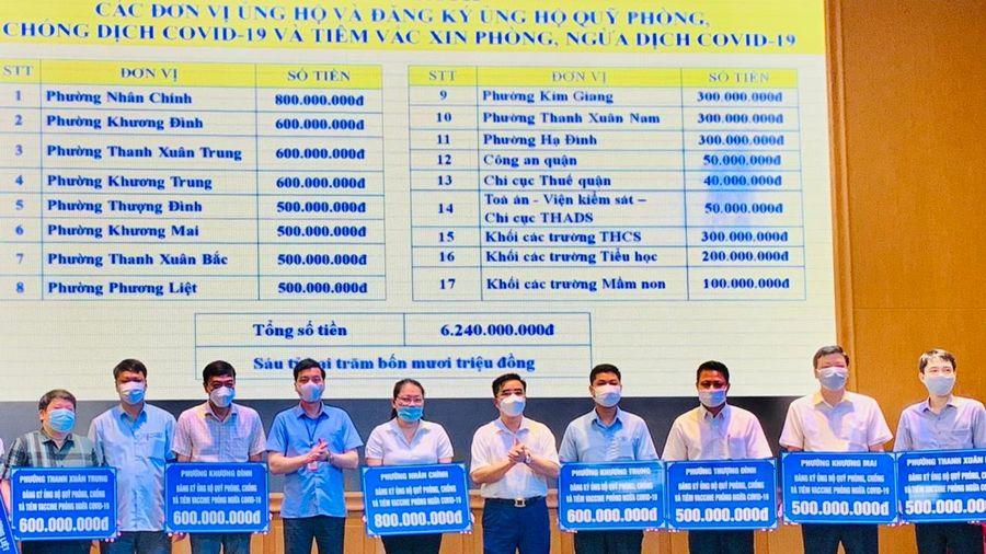 Quận Thanh Xuân: Đăng ký ủng hộ hơn 6 tỷ đồng cho Quỹ phòng, chống Covid-19