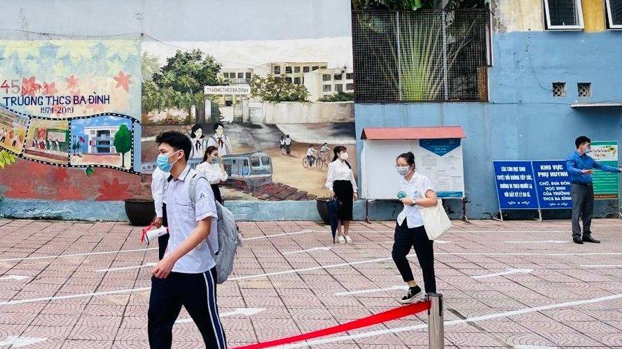 Quận Ba Đình: 1 thí sinh thi chuyên được bố trí phòng thi riêng