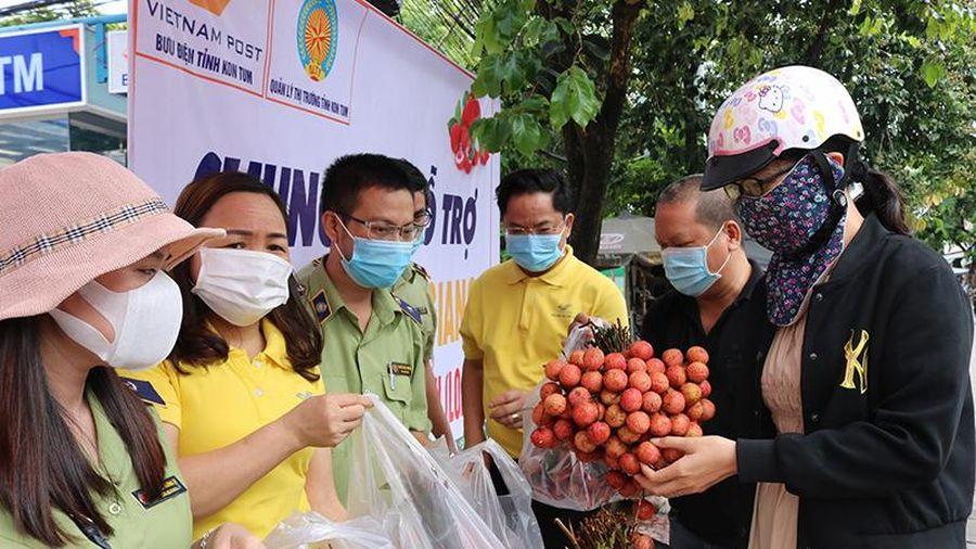 Tiêu thụ 10 tấn vải thiều Bắc Giang trong hai giờ