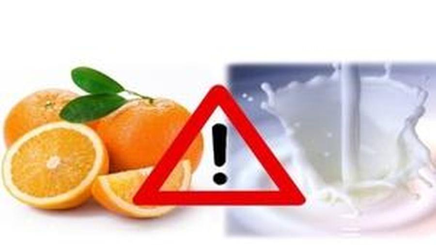 Những cặp thực phẩm kết hợp sẽ gây đại họa cho sức khỏe