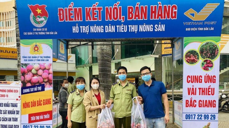 Quản lý thị trường Đắk Lắk: Hỗ trợ kết nối tiêu thụ vải thiều Bắc Giang
