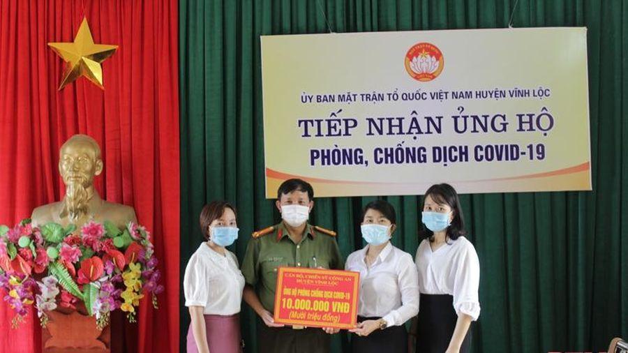 Vĩnh Lộc tiếp nhận gần 400 triệu đồng ủng hộ Quỹ phòng, chống dịch COVID-19