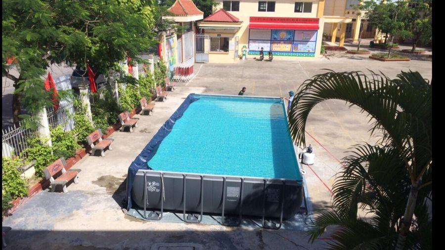 Hải Phòng: 40 trường học được lắp bể bơi phao