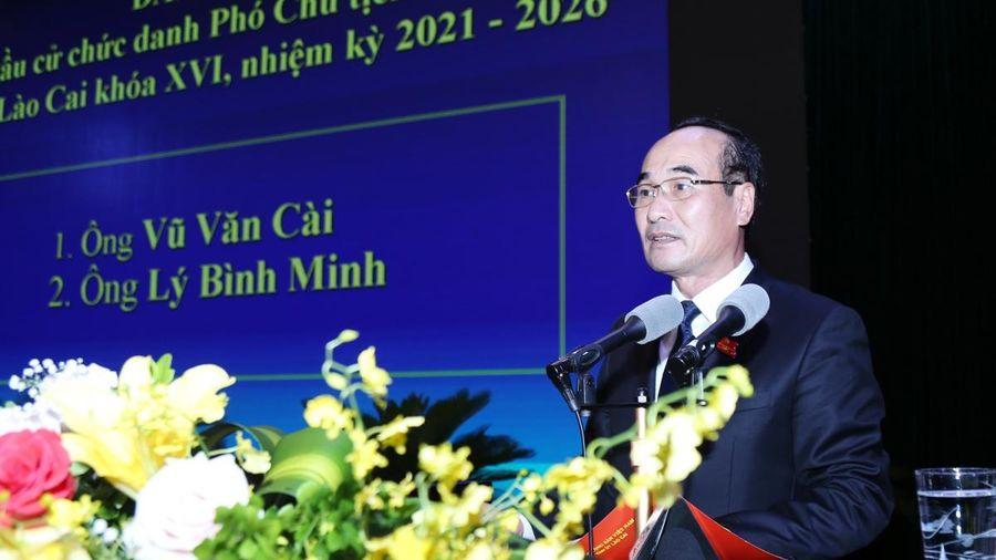 Ông Vũ Xuân Cường được bầu giữ chức danh Chủ tịch HĐND tỉnh Lào Cai