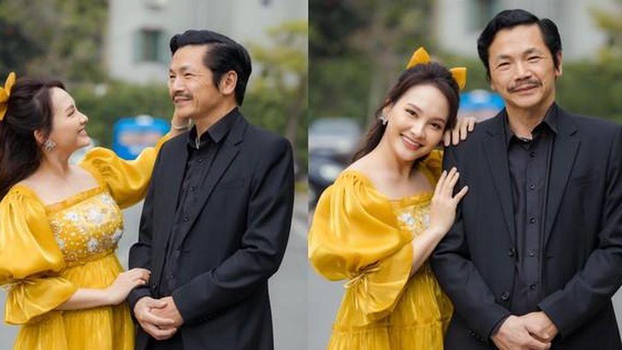 Dàn sao 'Về nhà đi con' chúc sinh nhật NSND Trung Anh, Bảo Thanh nói điều đặc biệt về 'bố'