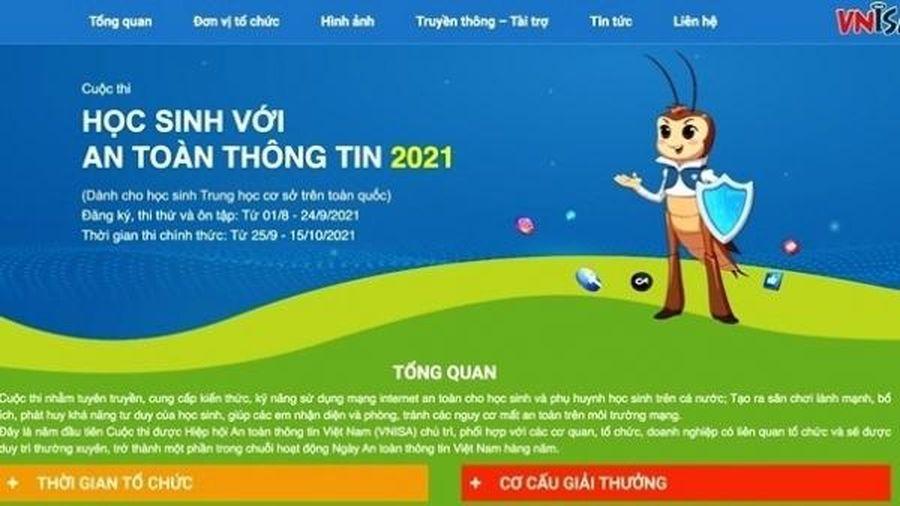 Việt Nam lần đầu tổ chức cuộc thi 'Học sinh với An toàn thông tin'