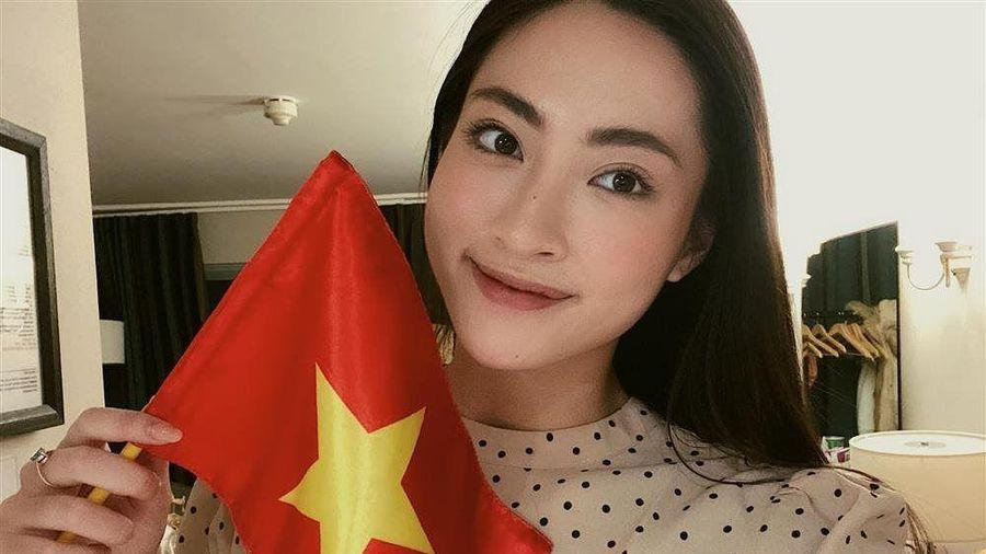 Hoa hậu Tiểu Vy hứa làm 'osin' nếu đội tuyển Việt Nam thắng UAE