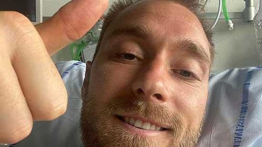 Xuất hiện hình ảnh đầu tiên của Eriksen sau vụ ngưng tim
