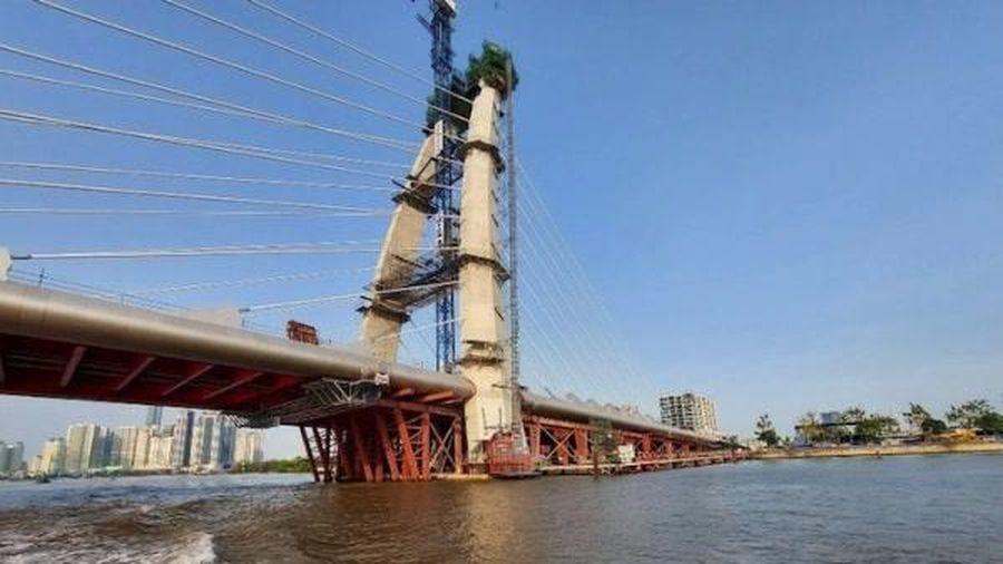 Cầu Thủ Thiêm 2 thi công trở lại, dự kiến 30/4/2022 thông xe