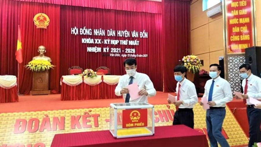 Kỳ họp thứ nhất HĐND huyện Vân Đồn khóa XX, nhiệm kỳ 2021-2016
