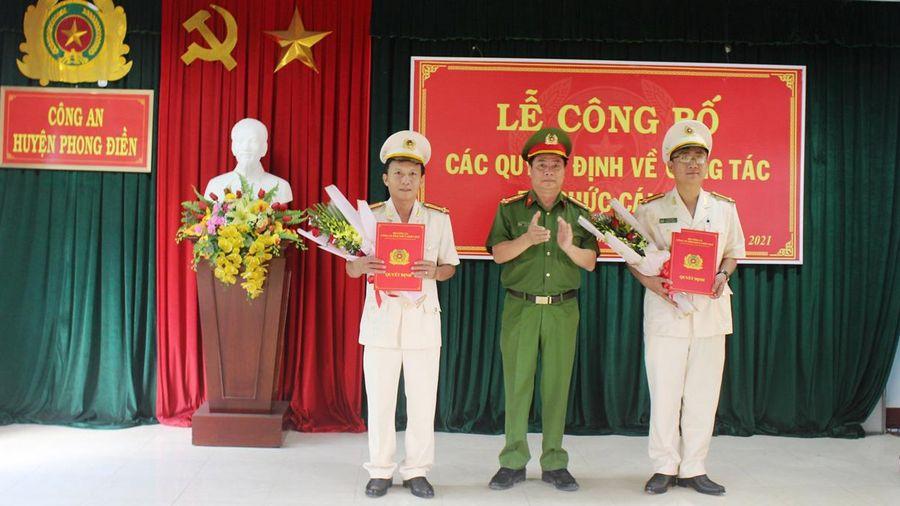Công an tỉnh Thừa Thiên - Huế công bố các quyết định về công tác cán bộ