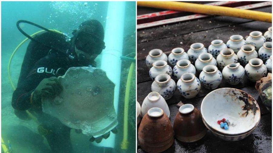 Singapore phát hiện 2 xác tàu chở đầy gốm sứ bị đắm từ 2 thế kỷ trước