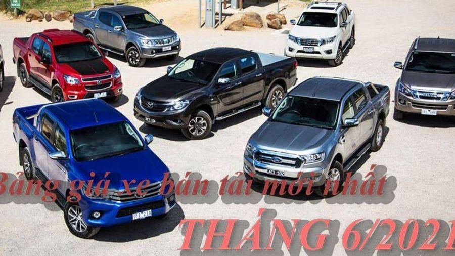 Infographic: Bảng giá xe bán tải mới nhất tại Việt Nam
