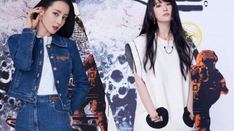 Lưu Diệc Phi mặc đồ hầm hố, Địch Lệ Nhiệt Ba 'chưng diện' đơn giản dự show Louis Vuitton