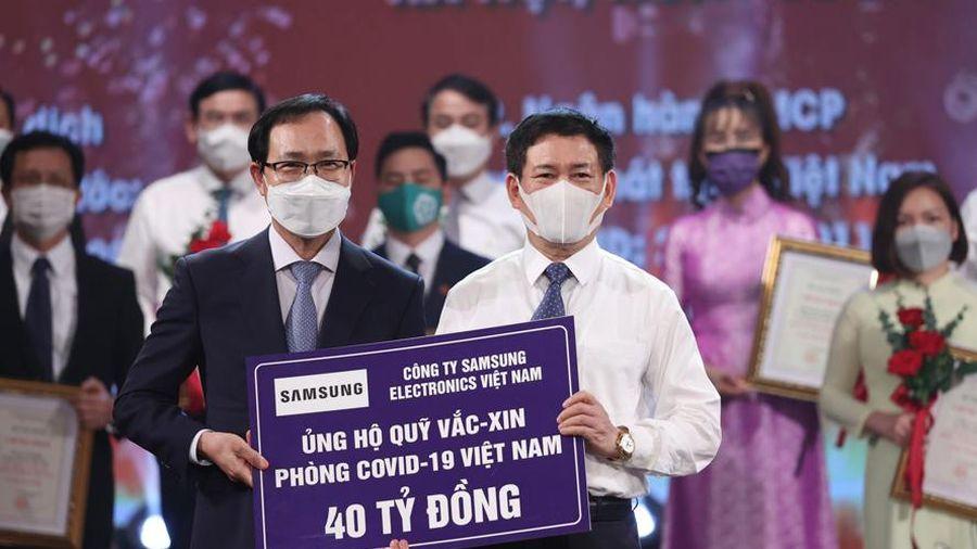 Samsung Việt Nam ủng hộ 56 tỷ đồng phòng, chống Covid-19