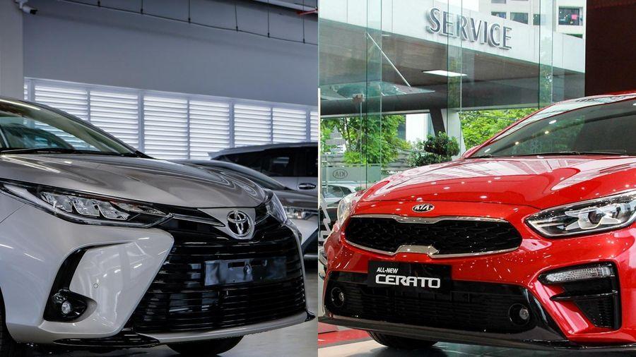 Toyota Vios G đối đầu Kia Cerato Luxury trong tầm giá 600 triệu đồng
