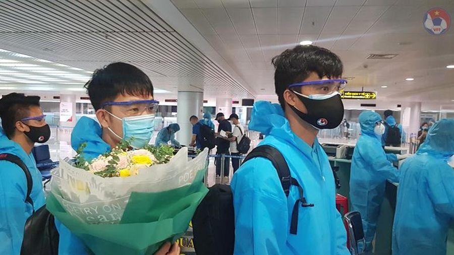 Đội tuyển Việt Nam đã trở về nước, ổn định sinh hoạt tại cơ sở cách ly