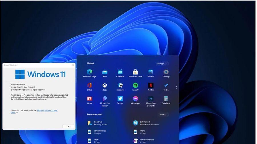 Rò rỉ giao diện người dùng, menu của Windows 11