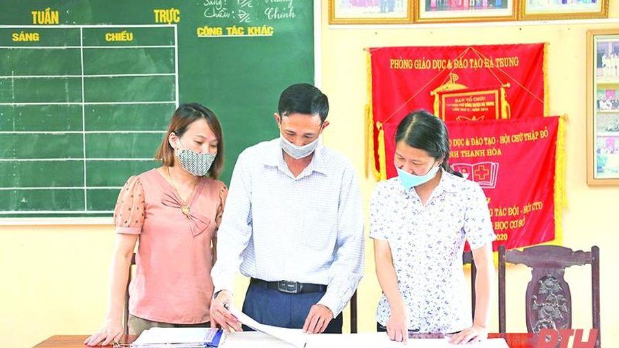 Công tác phổ cập giáo dục tiểu học ở huyện Hà Trung đạt nhiều kết quả