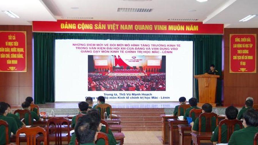 Nghiên cứu, quán triệt Nghị quyết Đại hội XIII của Đảng vào giảng dạy các môn khoa học xã hội và nhân văn