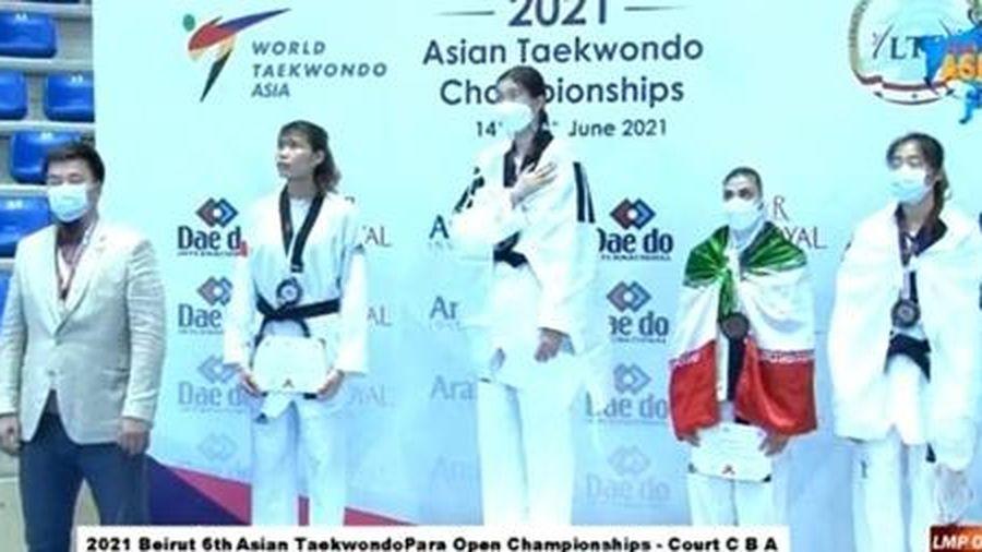 Taekwondo Việt Nam có huy chương đầu tiên tại giải Vô địch châu Á 2021