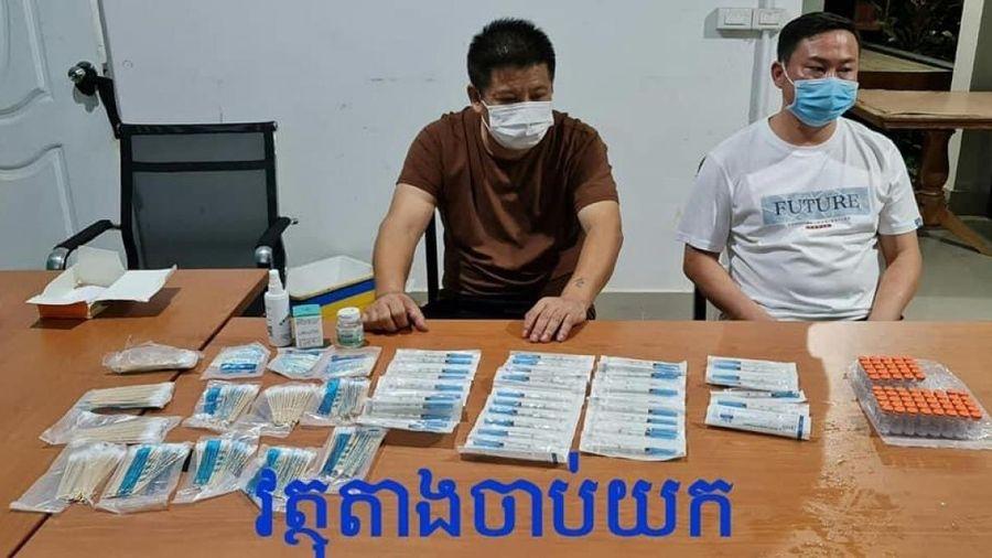 Campuchia bắt 2 người Trung Quốc buôn bán Vaccine Covid-19 trái phép