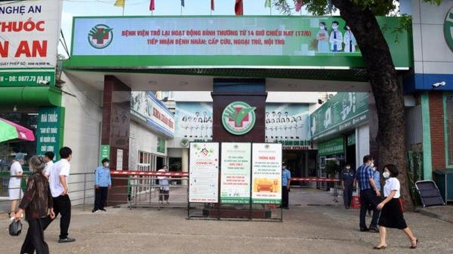 BVĐK TP Vinh, Nghệ An hoạt động trở lại sau 2 ngày tạm dừng chống dịch