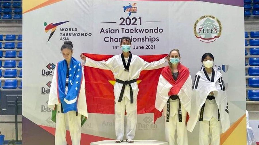 Nữ võ sỹ Việt xuất sắc vô địch giải Taekwondo châu Á