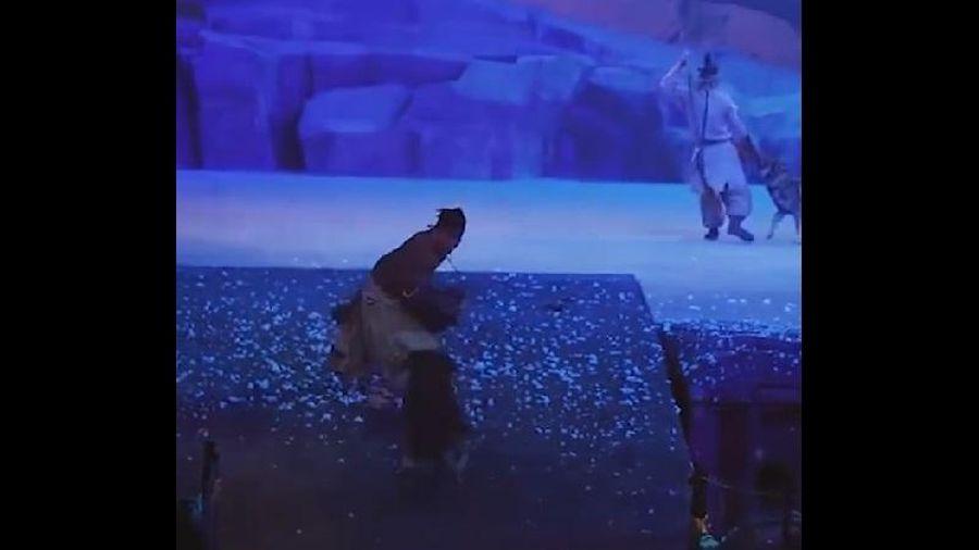 Trung Quốc: Cho bầy sói rượt đuổi, vồ diễn viên trên sân khấu, BTC nói 'an toàn'