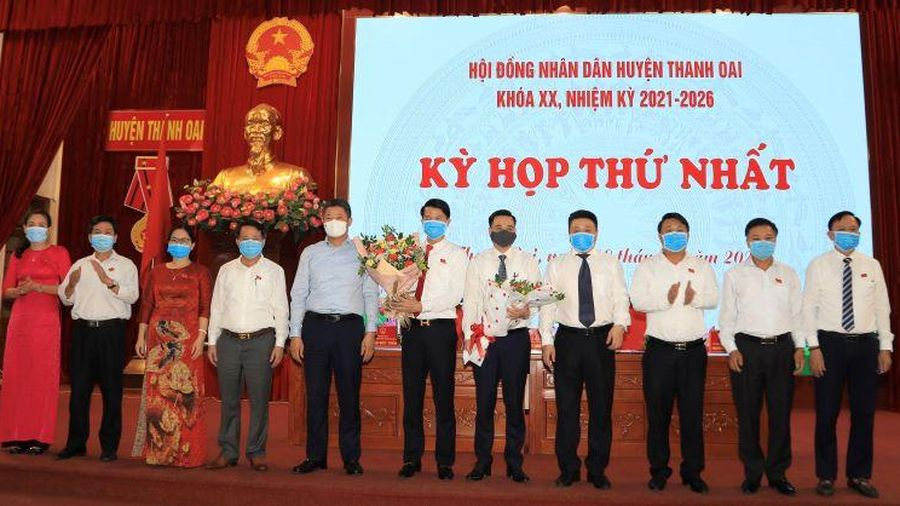 Thanh Oai: Bầu chức danh chủ chốt HĐND, UBND huyện nhiệm kỳ 2021 - 2026