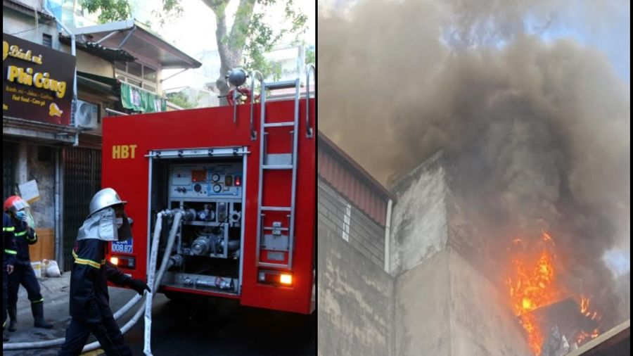 Hà Nội: Cháy lớn tại ngôi nhà trong ngõ phố Lương Yên