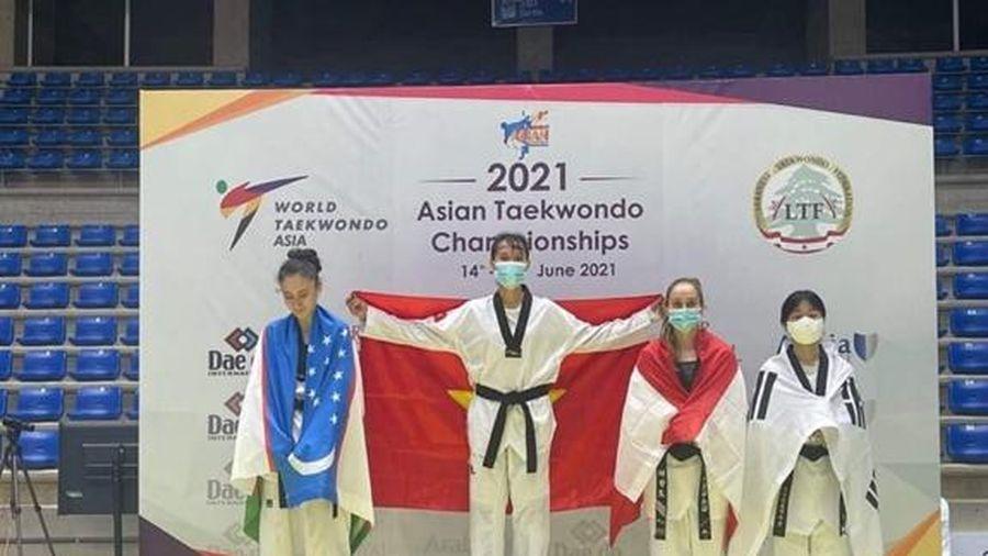 Taekwondo Việt Nam giành 1 HCV, 1 HCB tại giải vô địch châu Á