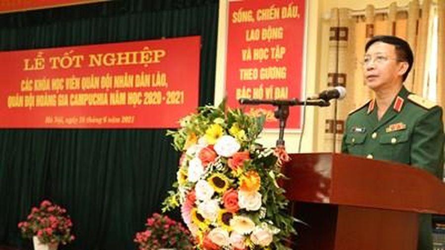 Học viện Hậu cần tổ chức Lễ tốt nghiệp các khóa học viên Lào và Campuchia