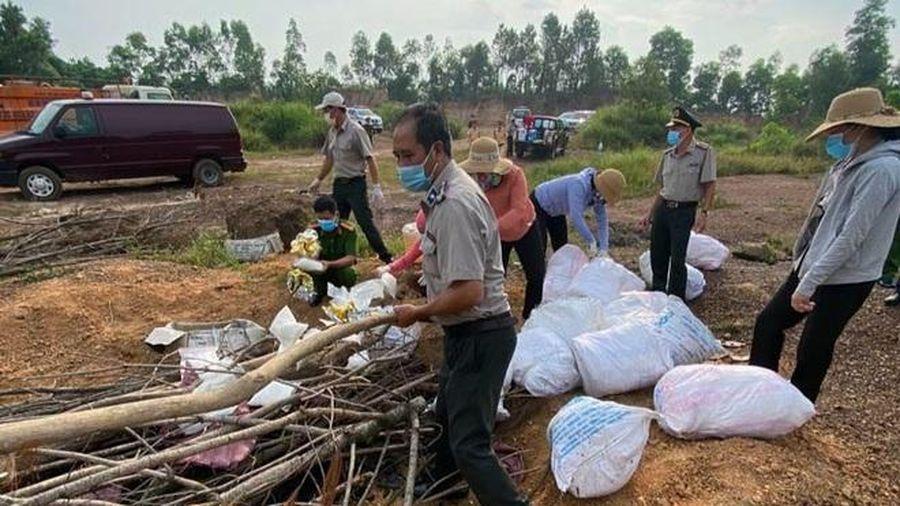 Quảng Bình: Lực lượng chức năng tiêu hủy 330kg ma túy