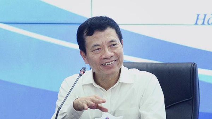 Bộ trưởng Nguyễn Mạnh Hùng phát biểu về chuyển đổi số trong nông nghiệp
