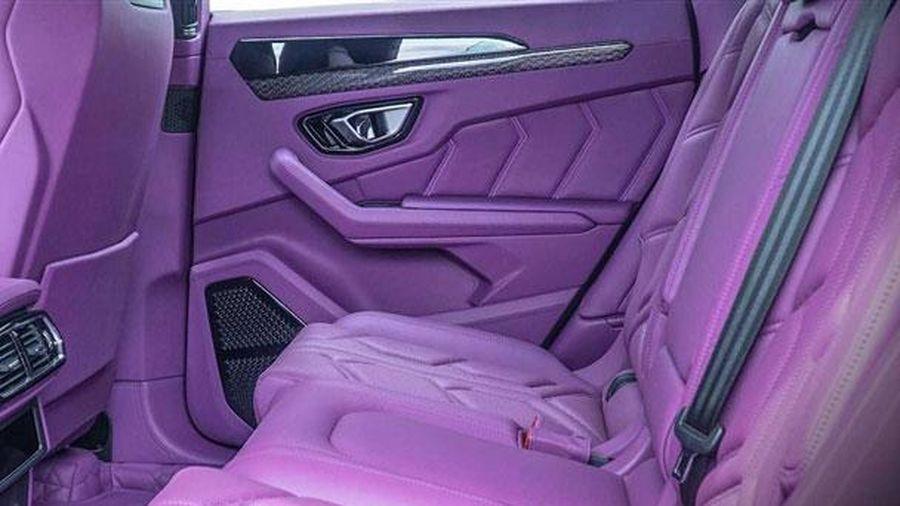 Ngắm nội thất màu tím mộng mơ trên siêu xe Lamborghini Urus