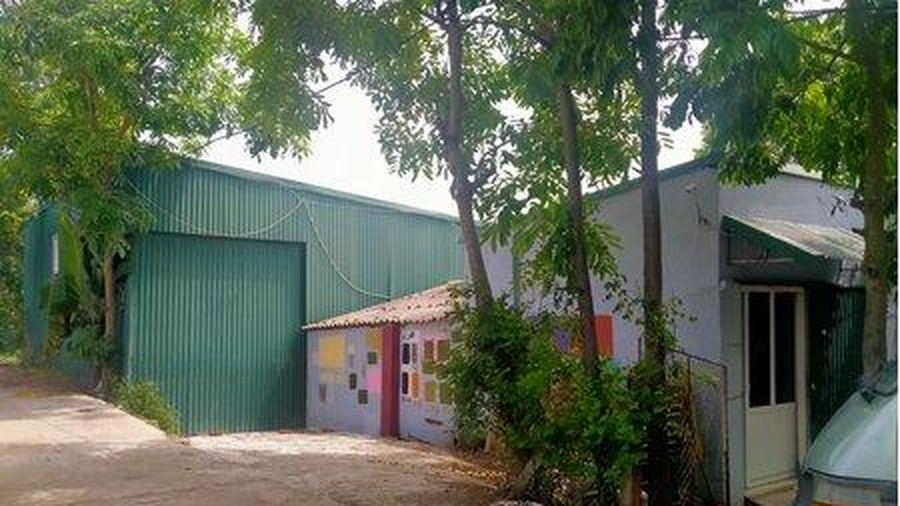 Viên Nội (Ứng Hòa): Xưởng sơn ngang nhiên xây dựng trên đất nông nghiệp