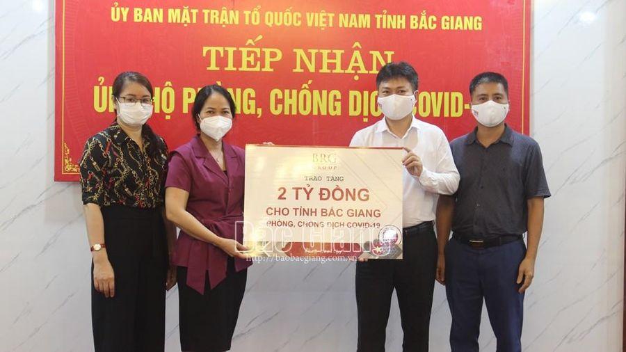 Tập đoàn BRG Group ủng hộ tỉnh Bắc Giang 2 tỷ đồng phòng, chống dịch